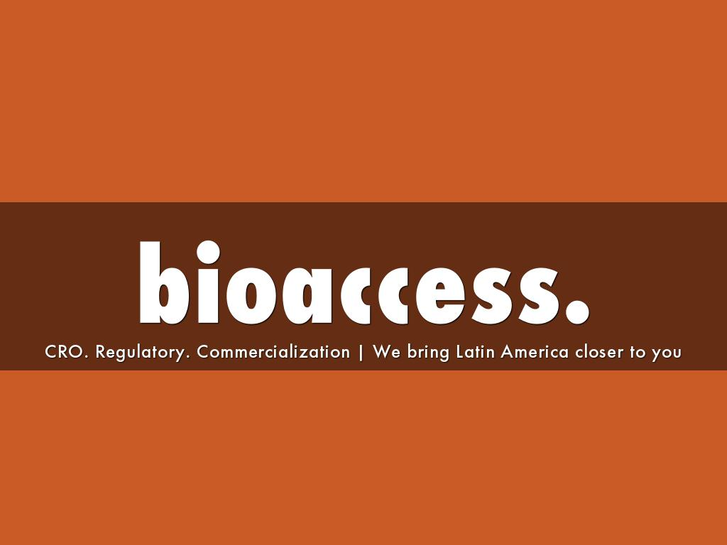 bioaccess.™ Company Profile & Capabilities