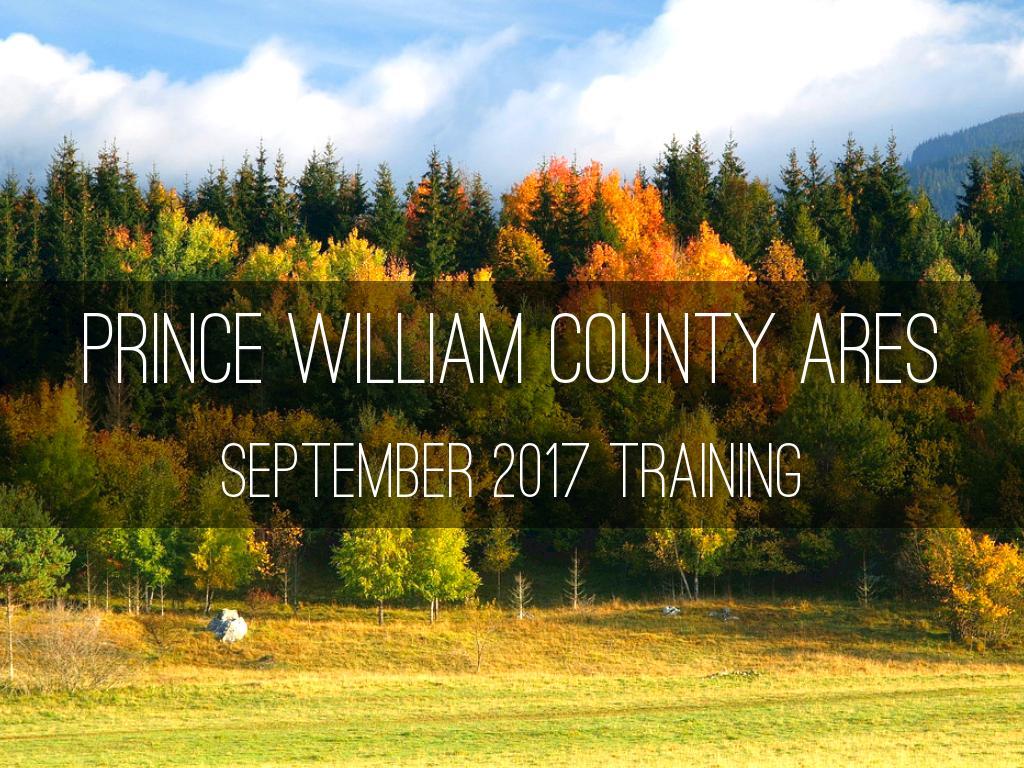 September 2017 Training