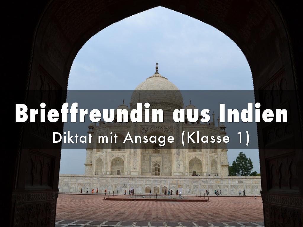 Brieffreundin aus Indien