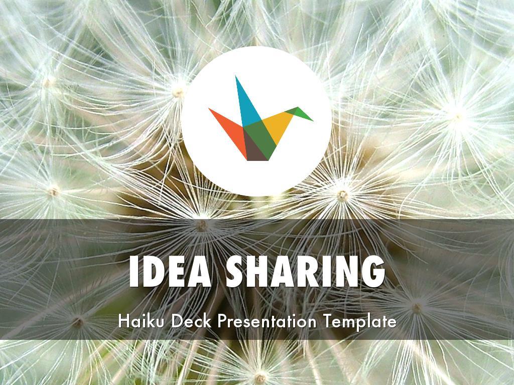 Copy of Idea Sharing Presentation Template