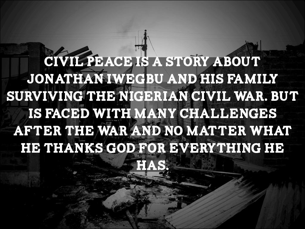 civil peace story