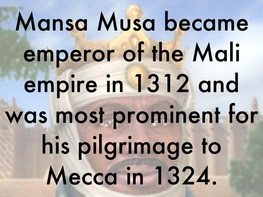 mansa musa notes Mansa musa quotes - 1 belize pledges it continued support to the aspirations of the 23 million people of taiwan to be full participants in all organs and agencies of the international community read more quotes and sayings about mansa musa.