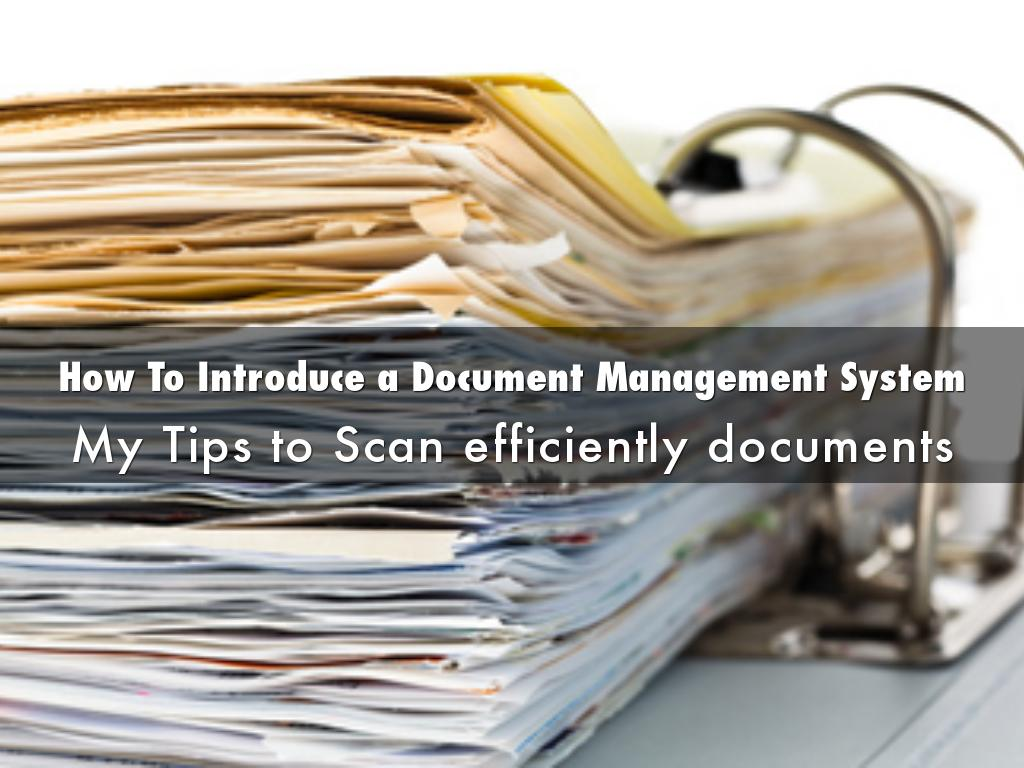 How To Introduce a Document Management System