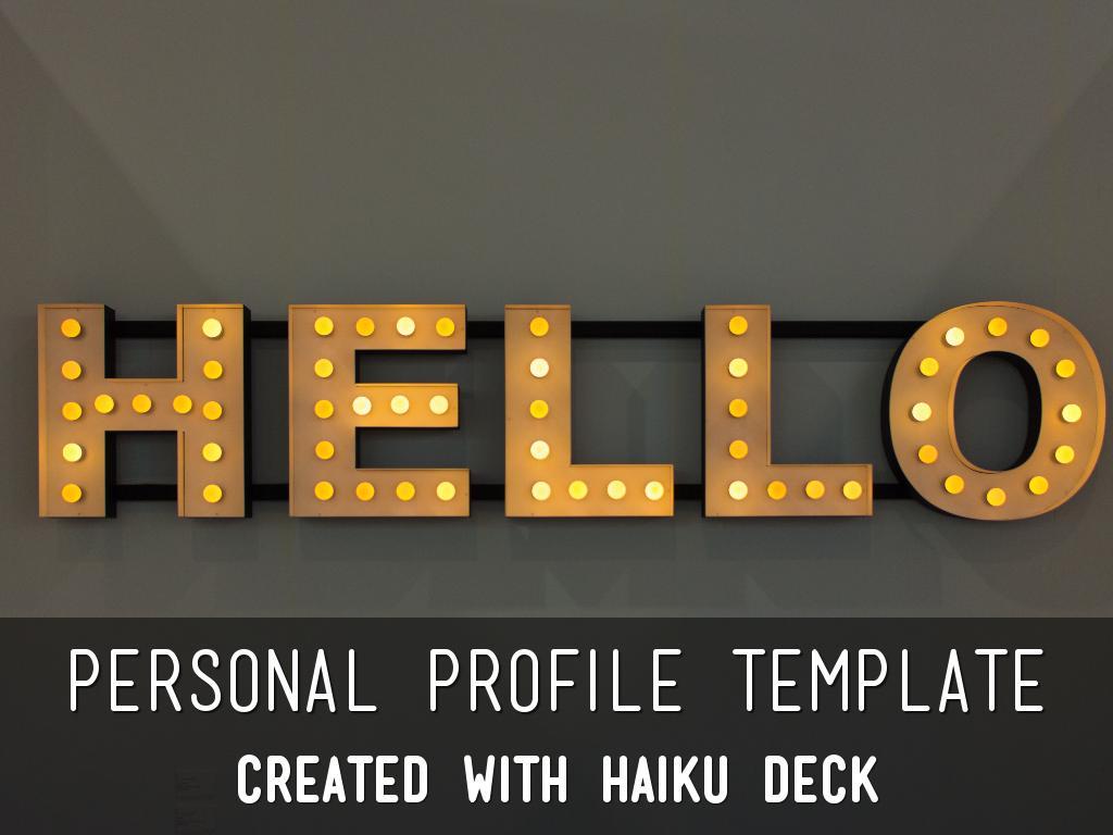 Copia de Personal Profile Template