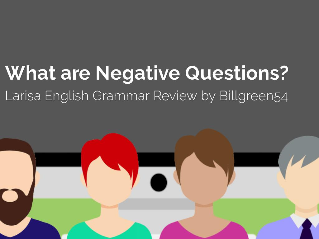 "What are ""Negative Questions""? Grammar Review"