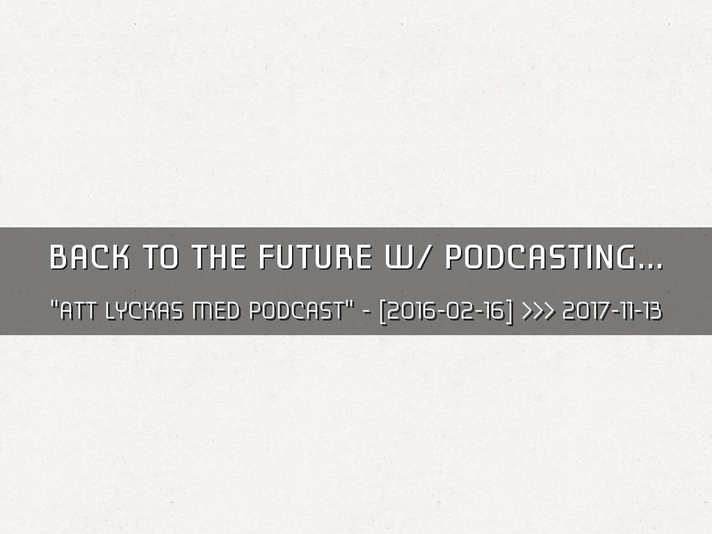 Copy of the future of podcasting