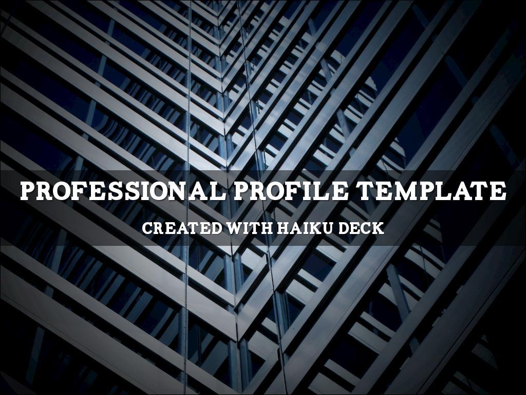 Copia di Professional Profile Template