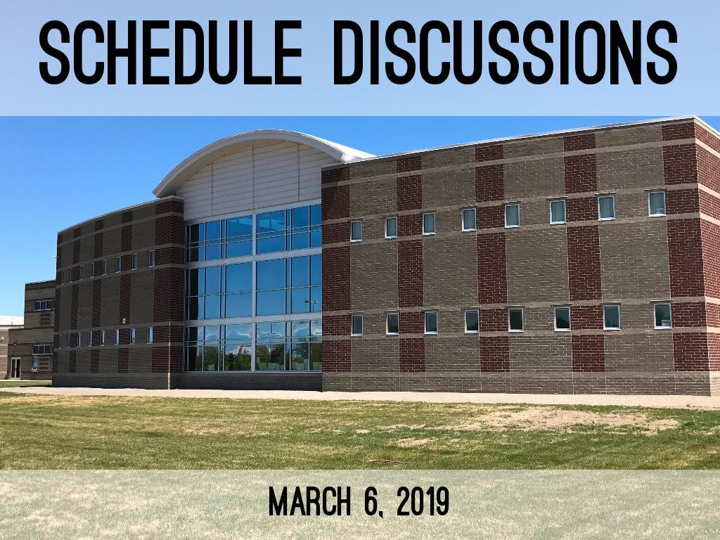 Schedule Discussions