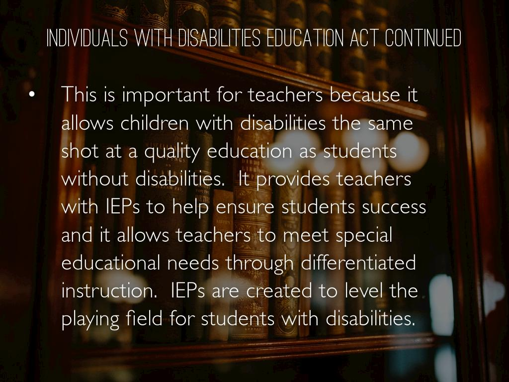 Individuals With Disabilities Education Act By