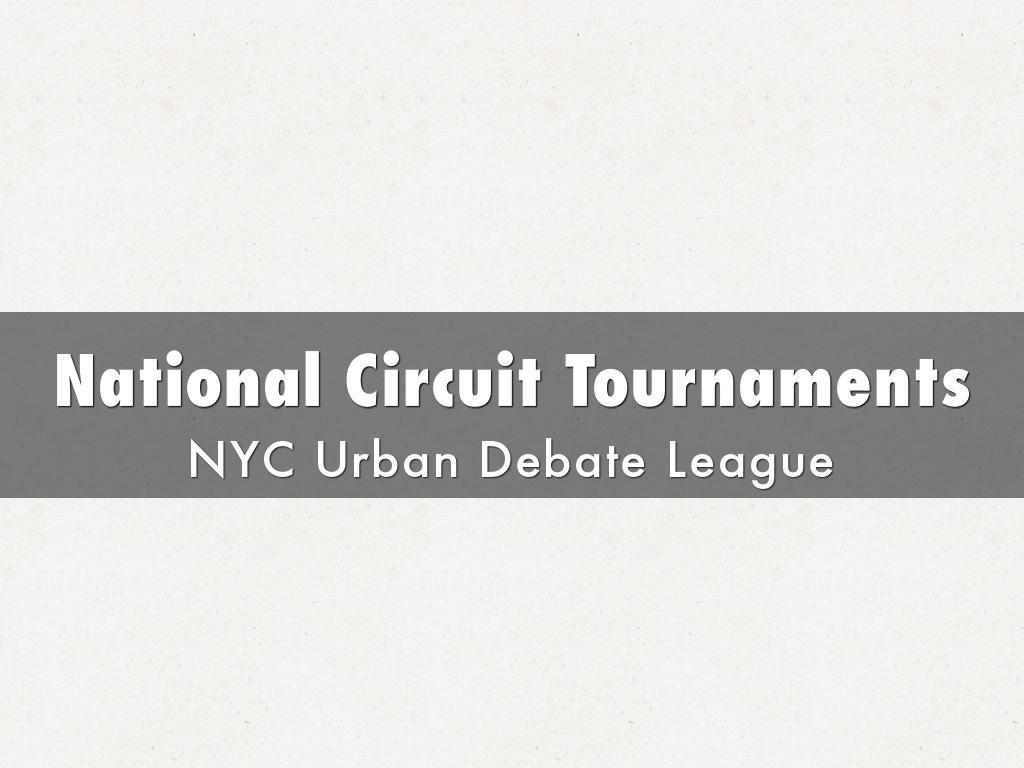 National Circuit Tournaments