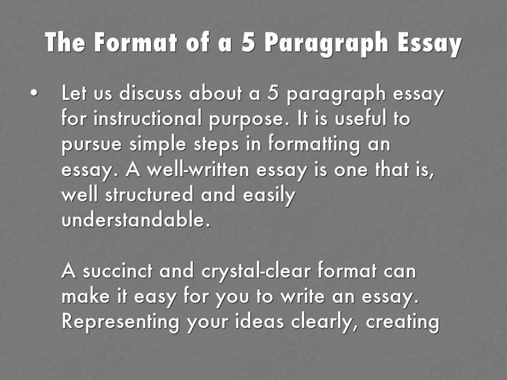 5 paragraph essay example
