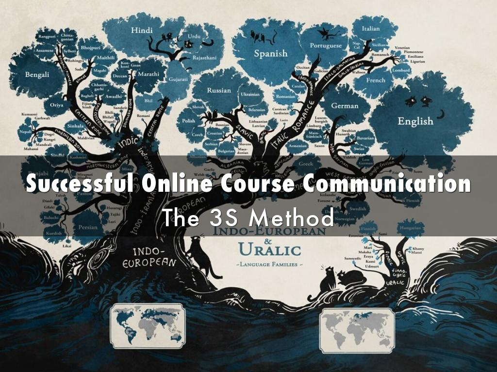 The 3S Method to Successful Online Course Communication