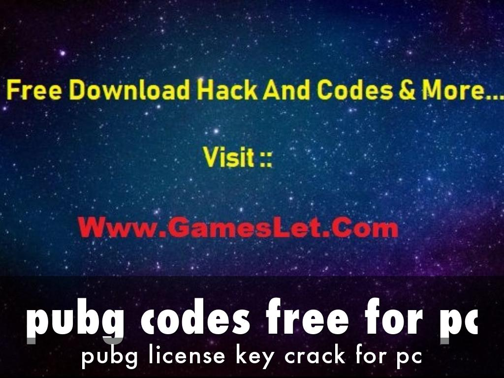 pubg codes free for pc