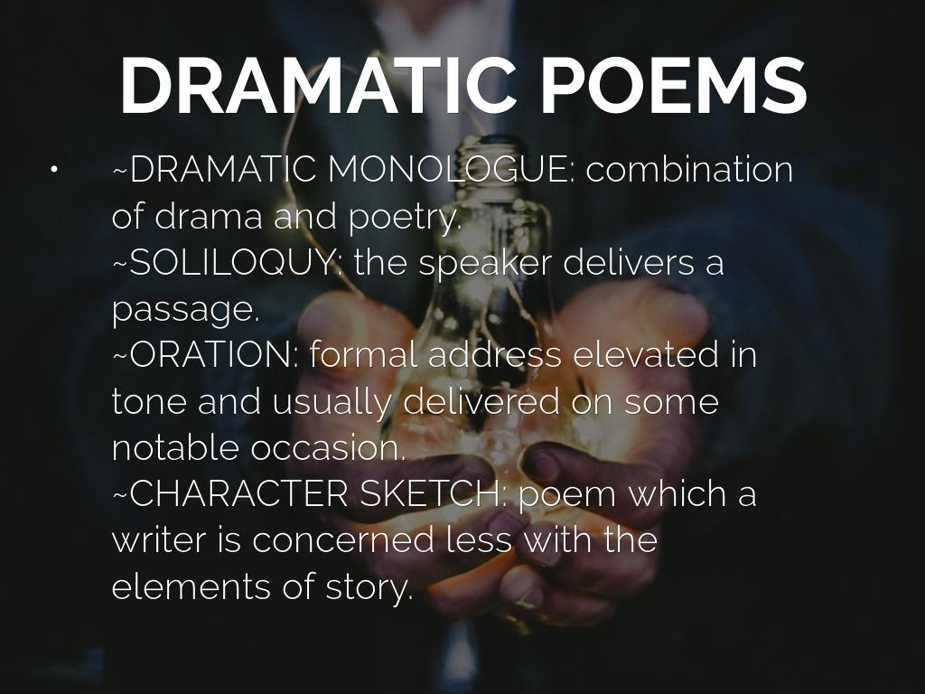 an overview of dramatic monologue