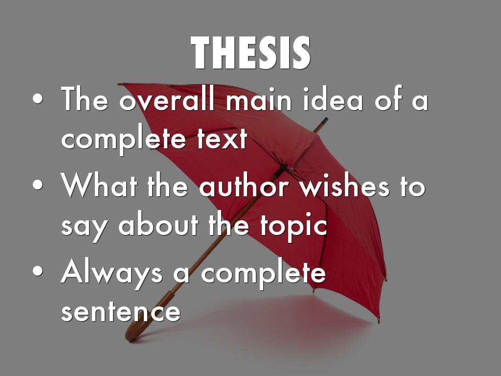 thesis implication