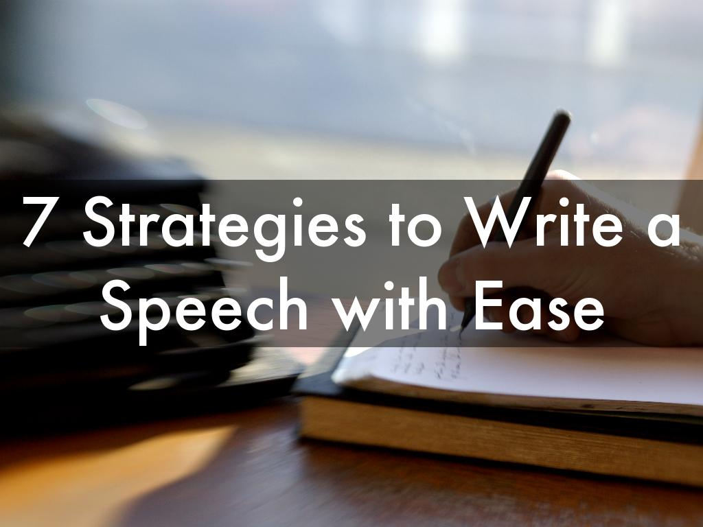 Copie de 7 Strategies to Write a Speech with Ease