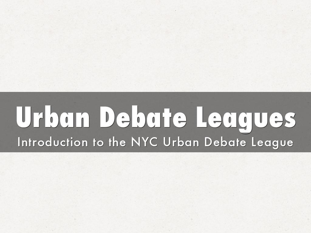Urban Debate Leagues