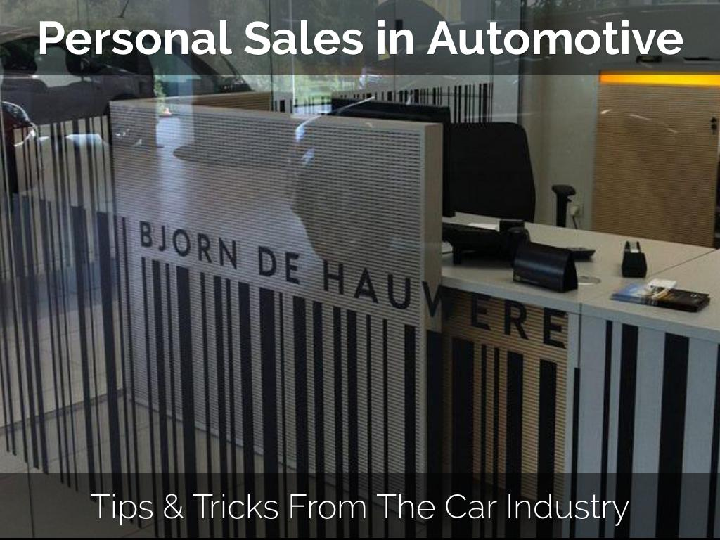 Personal Sales in Automotive