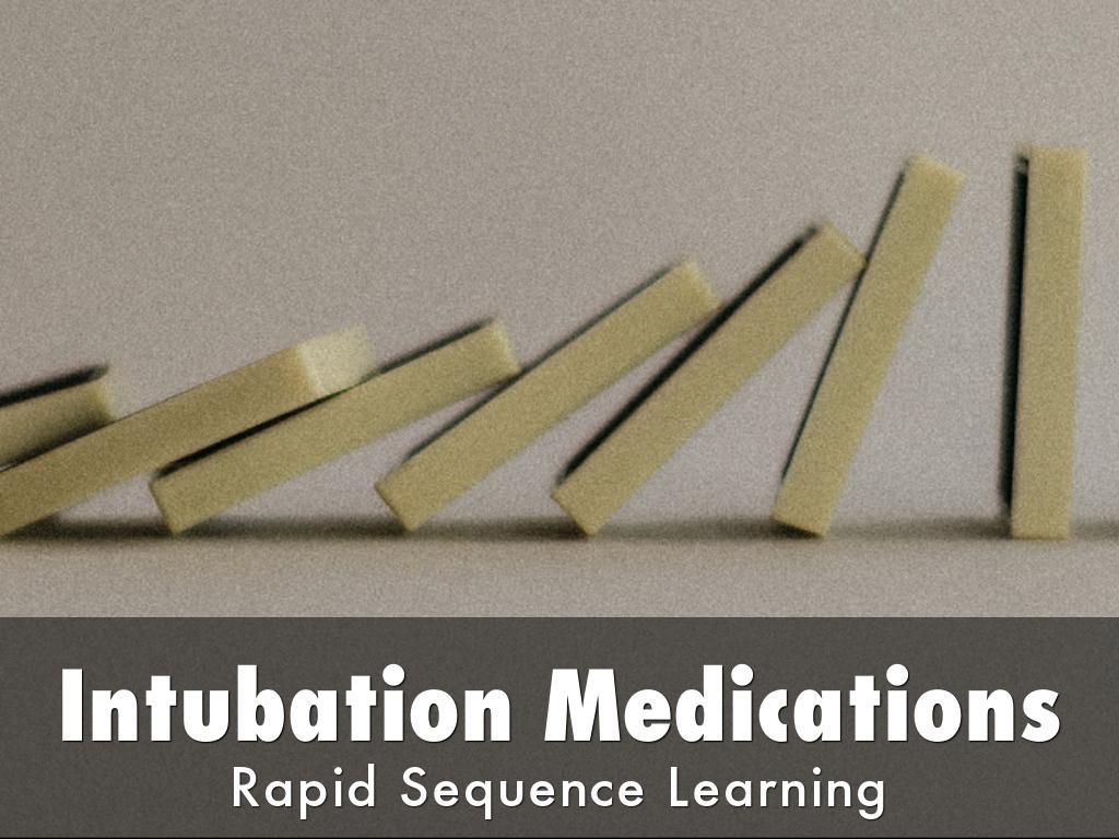 Intubation Medications