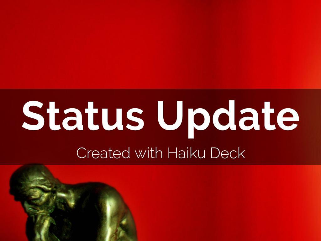 Copia de Status Update Haiku Deck Template