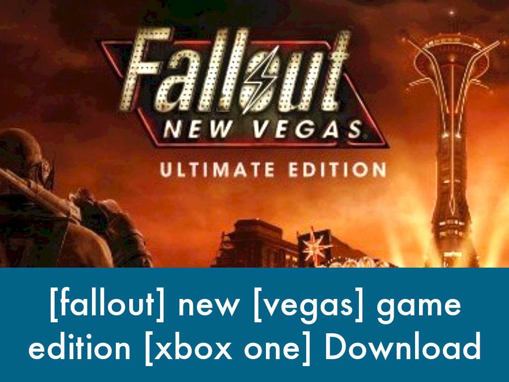 fallout] new [vegas] game edition [xbox one] by