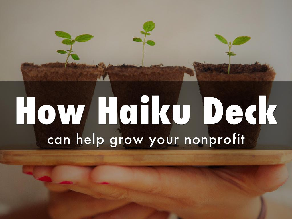 Copy of 8 Ways Presentations can grow nonprofits