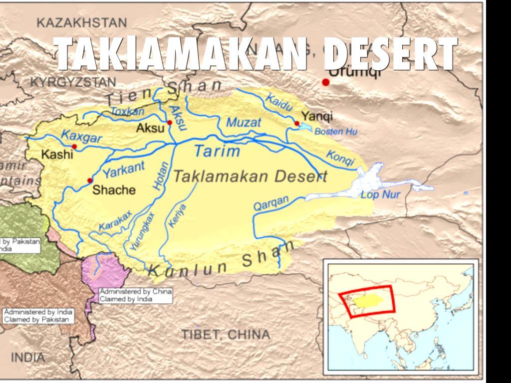 Taklamakan Desert Map Location Www Topsimages Com