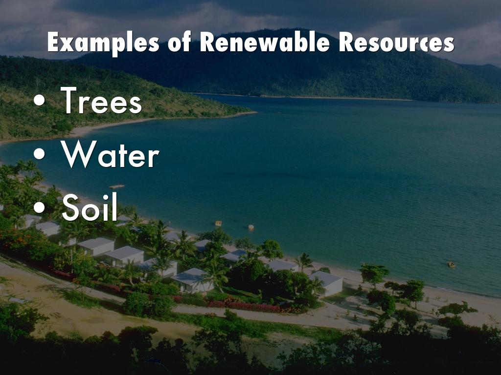 natural resources examples