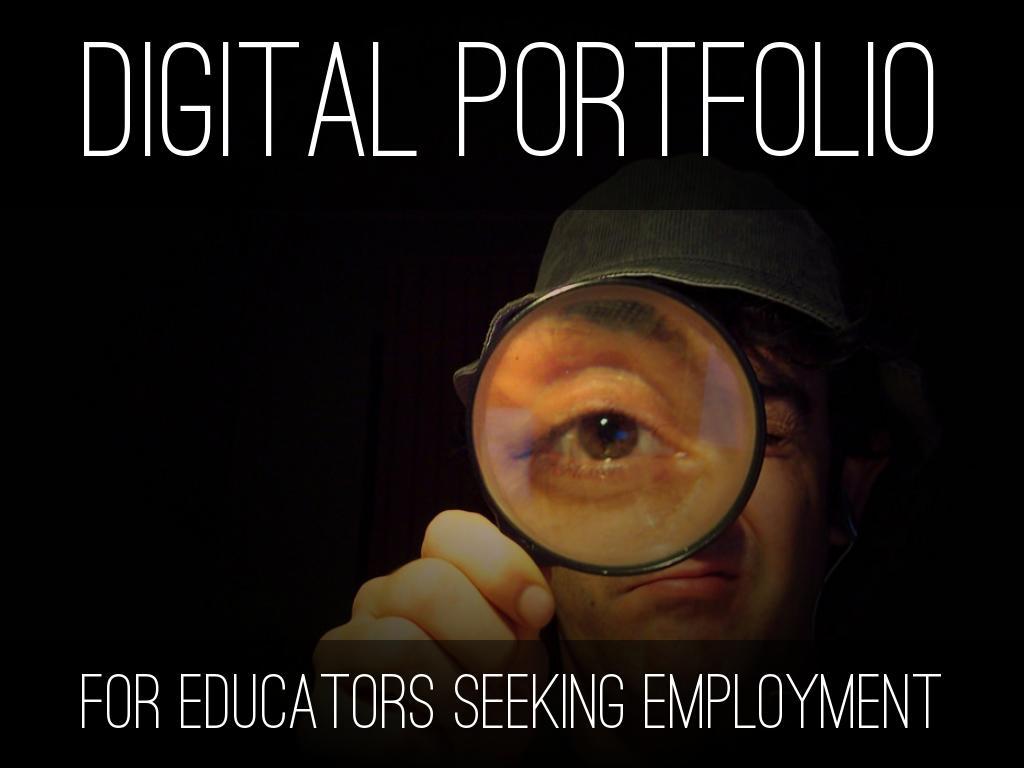 Digital Portfolio for Educators