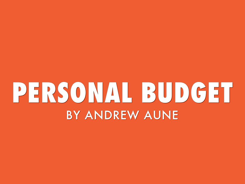 personal budget by andrew aune