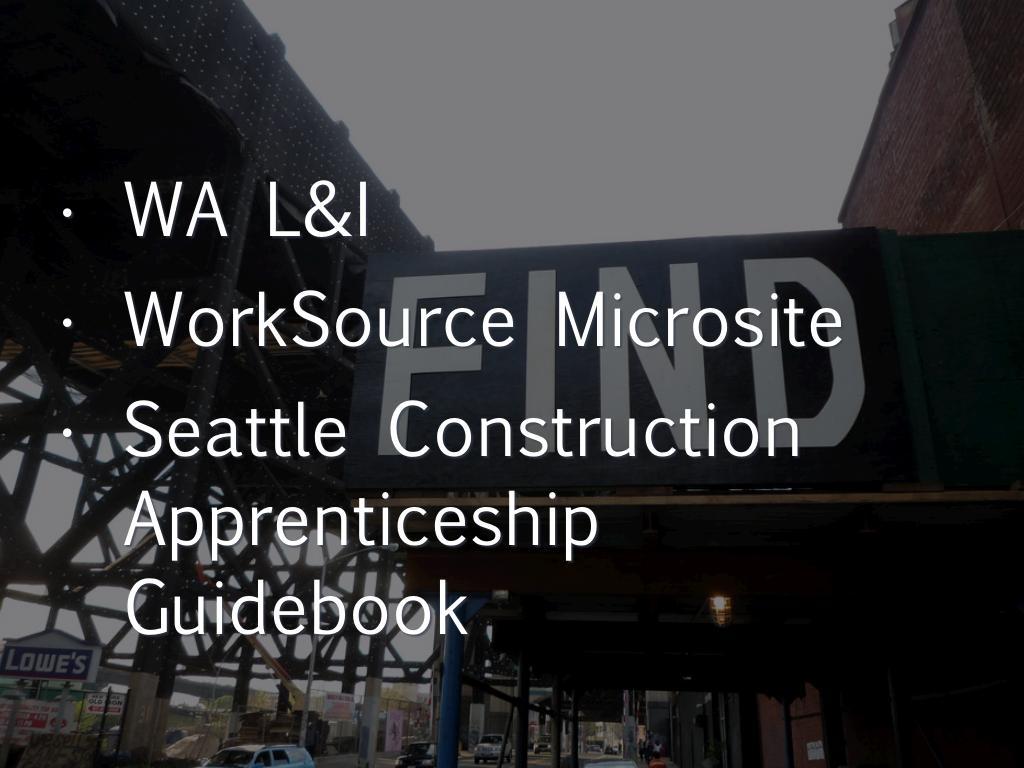 Apprenticeship By Bill Gable