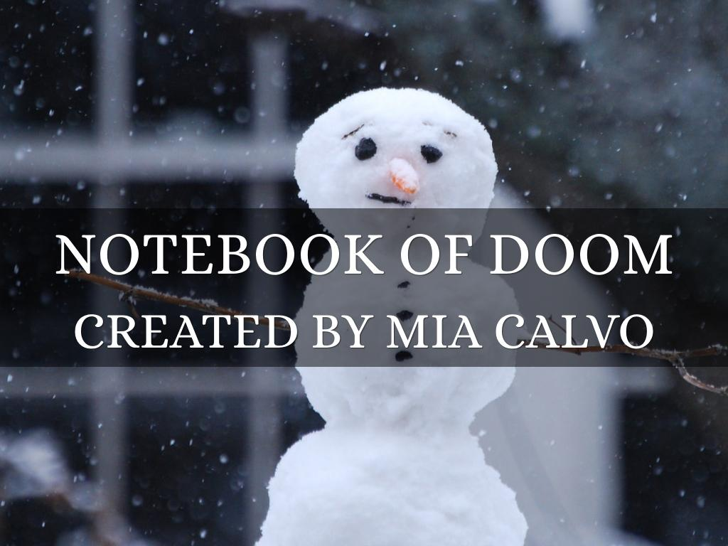 the notebook of doom by amber calvo