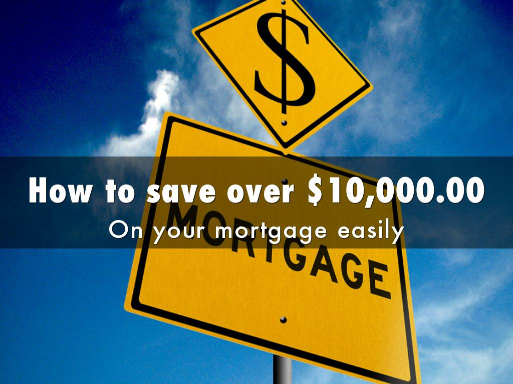 How to save over $10,000.00