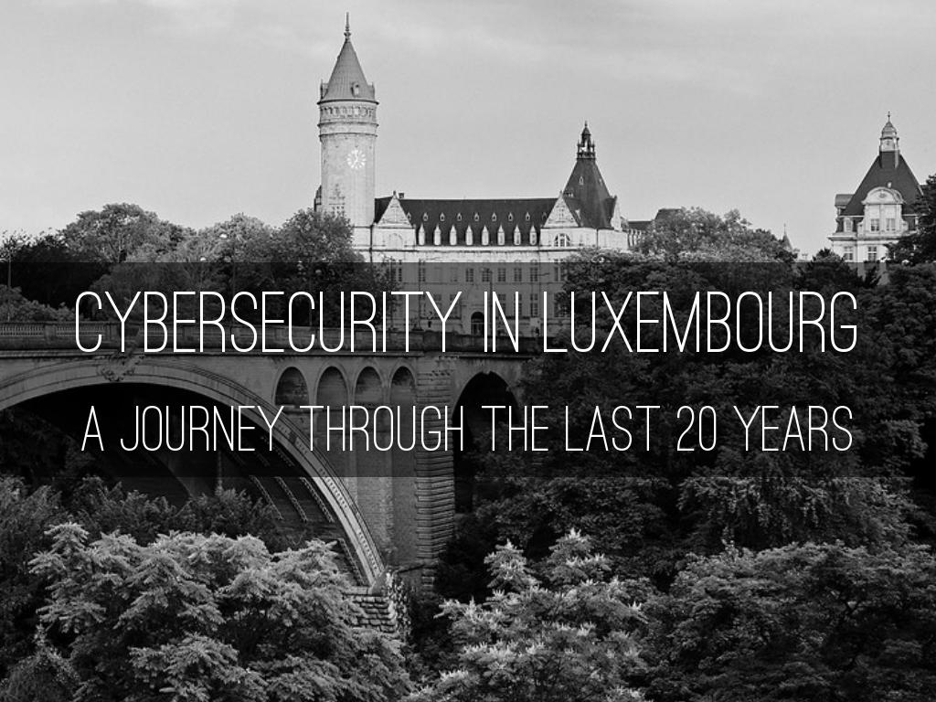 Cybersecurity Ecosystem Luxembourg - 08/05/2019