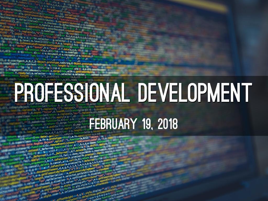 Professional development by Robin Harshman-Rogers