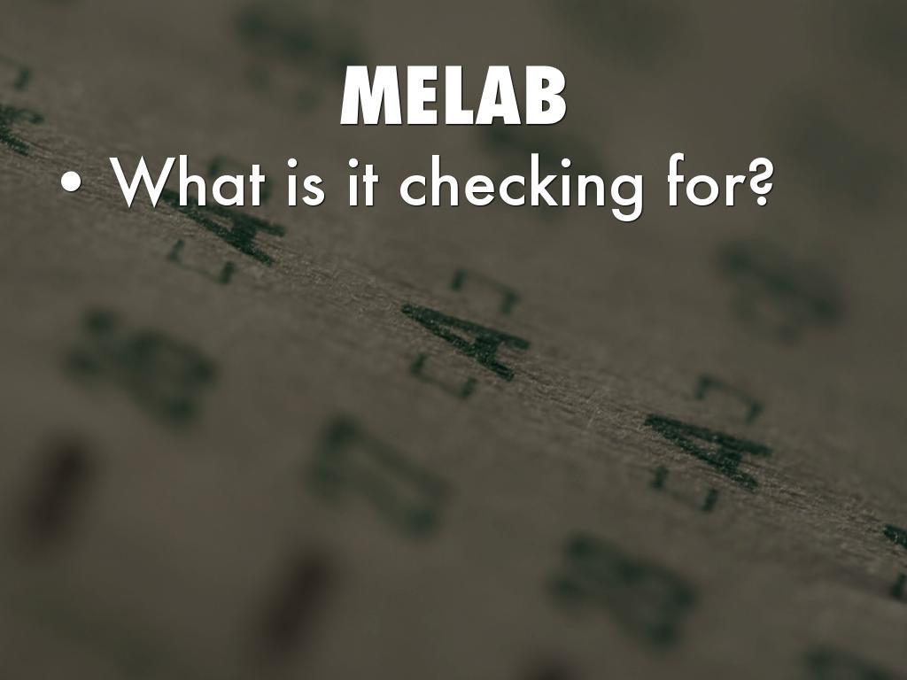 MELAB Questions