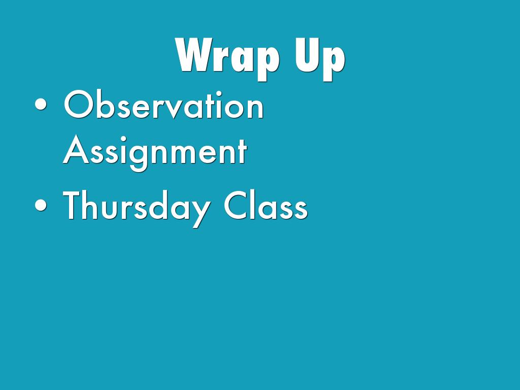 observation assignment This is a fiction-writing assignment based on real observation and will be shared during class discussion student samples these assignments are based on a two-tier process of taking notes first and then crafting a story.