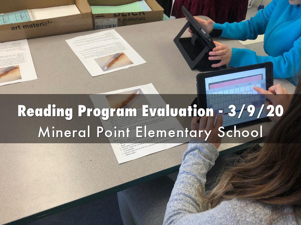 Reading Program Evaluation - 3/9/20