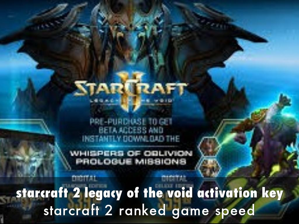 starcraft 2 legacy of the void activation key