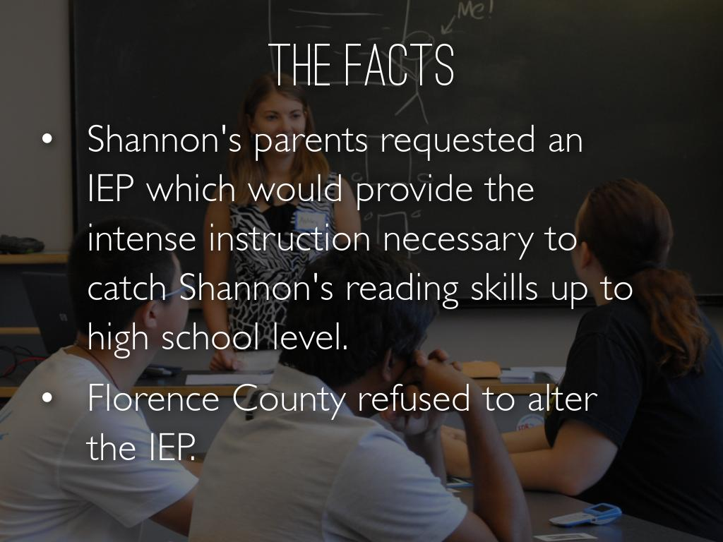 Supreme Court Ruling Alters Iep >> Florence County School District Iv V Shannon Carter