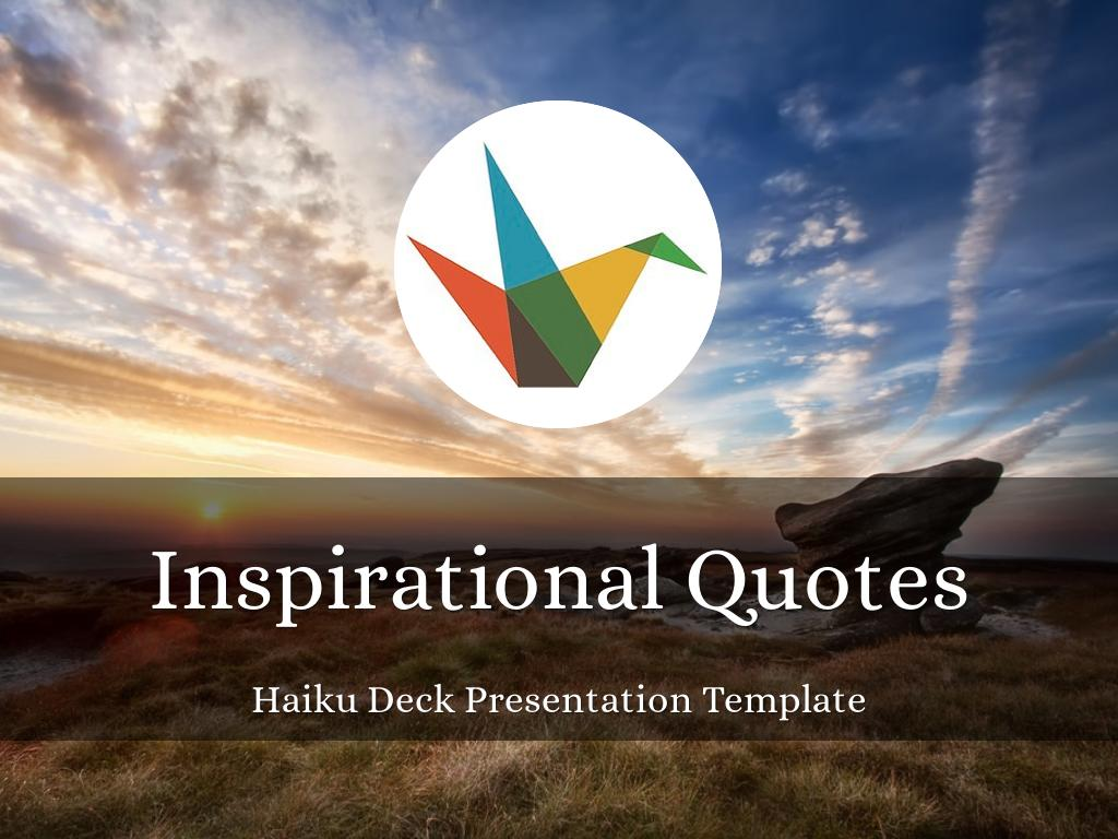 Inspirational Quotes Presentation Template のコピー